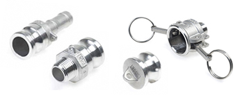 Assortiment camlockfittingen